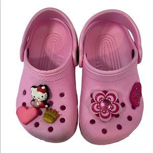 Crocs Hello Kitty Slip Ons Pink Size 6/7